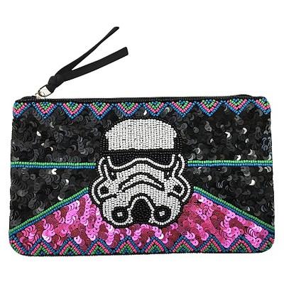 Star Wars Women's Storm Trooper Clutch Handbag with Sequins and Beads - Black