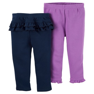 Baby Girls' 2 Pack Ruffle Pants Navy 3M - Just One You™Made by Carter's®