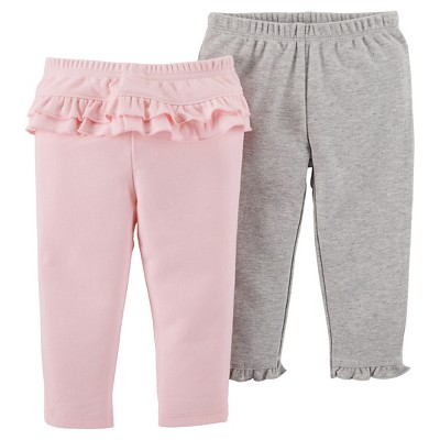 Baby Girls' 2 Pack Ruffle Pants Pink 12M - Just One You™Made by Carter's®