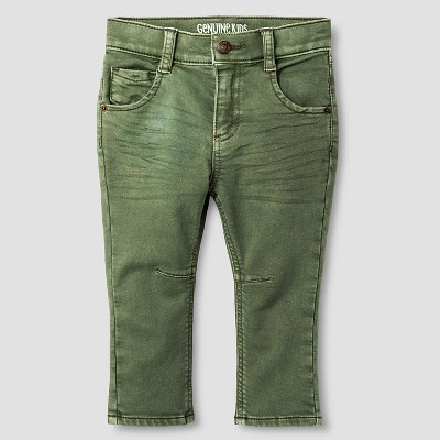 Baby Boys' Jeans - Green 12 M - Genuine Kids™ from OshKosh®
