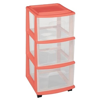 3-Drawer Medium Storage Cart - Melon - Room Essentials™
