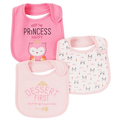 Baby Girls' 3 Pack Bib Pink Dessert First  - Just One You™Made by Carter's®