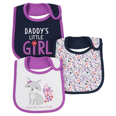 Baby Girls' 3 Pack Bib Purple Sweeter Than Sugar  - Just One You™Made by Carter's®