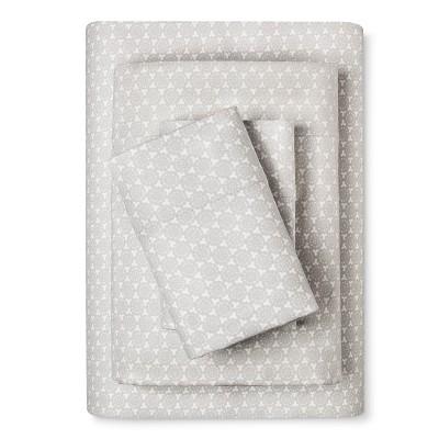 Flannel Sheet Set (Cal King) Gray Geo Print  - Threshold™