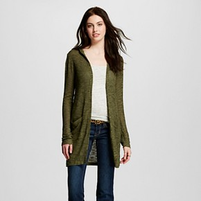 Women's Hatchi Rib Hoodie Cardigan - Mossimo Supply Co.™ (Juniors')
