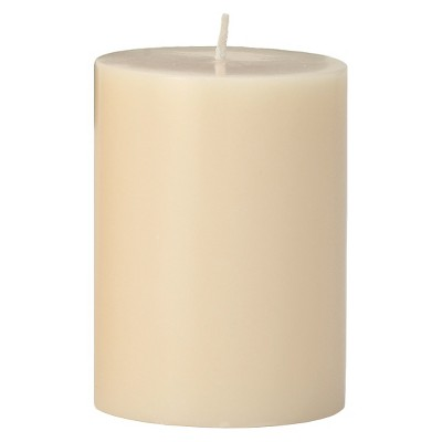 "Torre & Tagus Prime Palm Wax Pillar Candle - Ivory (3x4"")"