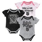 Los Angeles Kings Girls' Infant/Toddler 3 Pk Body Suit 0-3 M