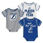 Tampa Bay Lightning Boys' Infant/Toddler 3 pk Body Suit 6-9 M