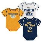 Nashville Predators Boys' Infant/Toddler 3 pk Body Suit 0-3 M