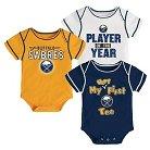 Buffalo Sabres Boys' Infant/Toddler 3 pk Body Suit 3-6 M