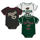 Minnesota Wild Boys' Infant/Toddler 3 pk Body Suit 0-3 M