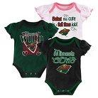 Minnesota Wild Girls' Infant/Toddler 3 Pk Body Suit 0-3 M