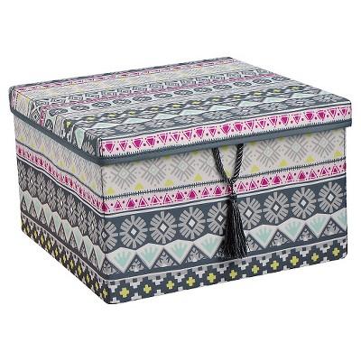 Xhilaration™ 150D Poplin Lidded Box with Tassel - Multicolor