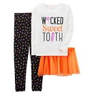 Girls' 4pc Long Sleeve Cotton PJ Ivory/Orange  - Just One You™Made by Carter's®