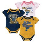 St. Louis Blues Girls' Infant/Toddler 3 Pk Body Suit 0-3 M