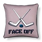 Colin Face Off Pillow 18x18 Gray - Sheringham Road™