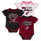 Arizona Coyotes Girls' Infant/Toddler 3 Pk Body Suit 3-6 M