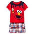 Toddler Boys' Sesame Street 2-Piece Short Set - Red