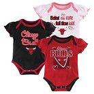 Chicago Bulls Girls Infant Body Suit 0-3 M