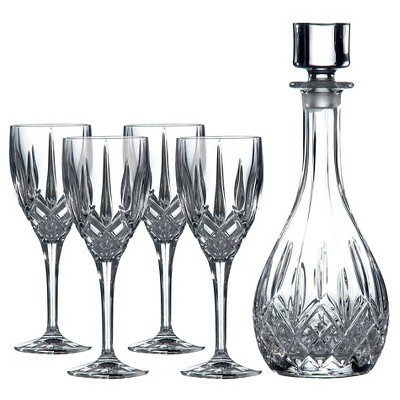 Royal Doulton Wine, Set of 4 with Round Decanter