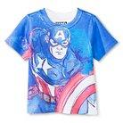Toddler Boys' Captain America Tee - Blue