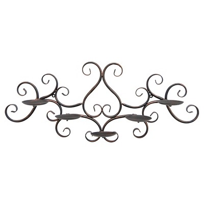 "Three Hands Metal Wall Sconce (11.5"")"