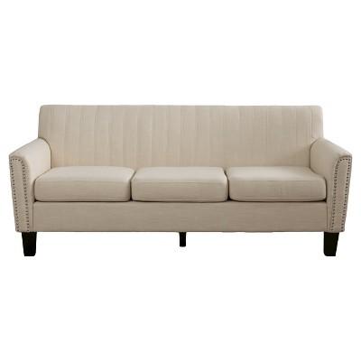 Brookfield Three-Seat Fabric Sofa - Christopher Knight Home