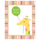 Baby First Birthday Pink Thank You Notes - 8 count