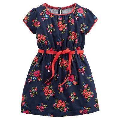 Just One You™Made by Carter's® Girls' Short-sleeve Floral Dress - Navy 6