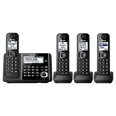 Panasonic Cordless Phone with Dual key Pad and Digital Answering Machine - Black (KX-TGF344B)