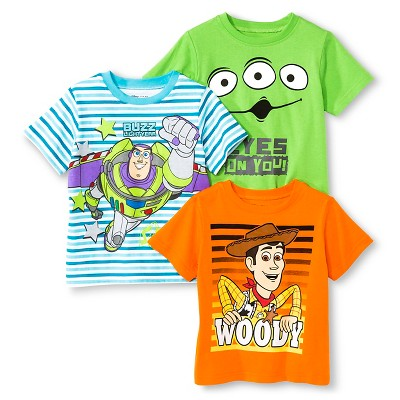 Toddler Boys' Toy Story 3-Pack Tee Shirts - 12 M