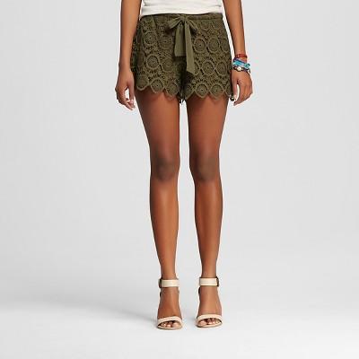 Female Fashion Shorts 3Hearts Olive S