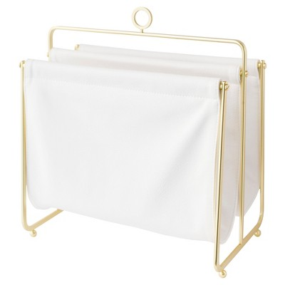 Sugar Paper® Magazine Rack - Cloth with Gold Rack