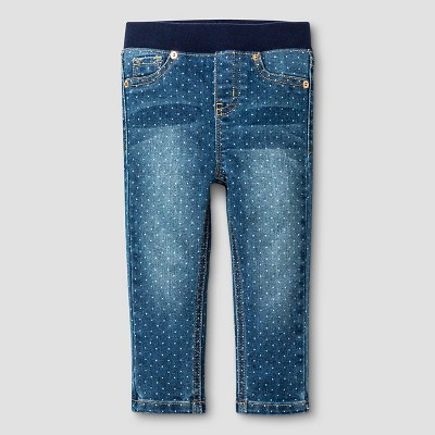 Baby Girls' Skinny Jeans - Medium Wash with Dot 18M - Cat & Jack™