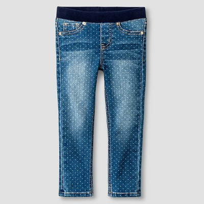 Toddler Girls' Skinny Jeans - Medium Wash with Dot 2T - Cat & Jack™