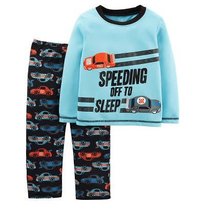 Boys' 2pc Long Sleeve Poly PJ Blue Multi 3T - Just One You™Made by Carter's®