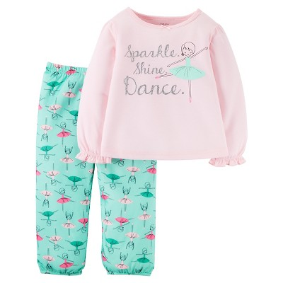 Girls' 2pc Long Sleeve Poly PJ Light Pink 12M - Just One You™Made by Carter's®