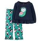 Girls' 2pc Long Sleeve Poly PJ Navy/Multicolor  - Just One You™Made by Carter's®