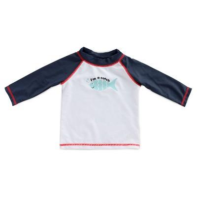Imn Swimwear Tops Child Male Rash Guards Fish Nightfall Blue 3-6 M