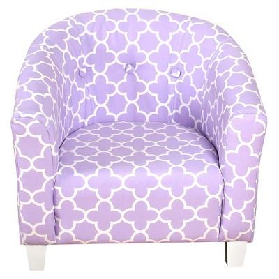 HomePop Juvenile Chair Lavender Quatrefoil - HomePop