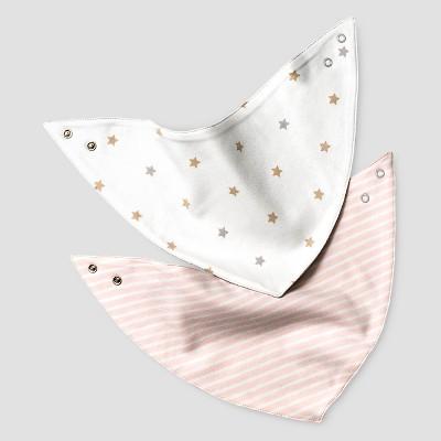Baby Girls' 2 Pack Organic Bandana Bibs Baby Cat & Jack™ - Charming Pink