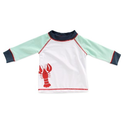 Imn Swimwear Tops Child Male Rash Guards Lobster Aqua Float 6-9 M