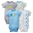 Gerber® Baby Boys' 4pk Monster Onesies® - Blue 18 M