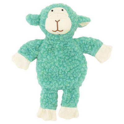 Plush Sherpa Teal Cuddle Lamb with Squeaker -Small - Boots & Barkley™