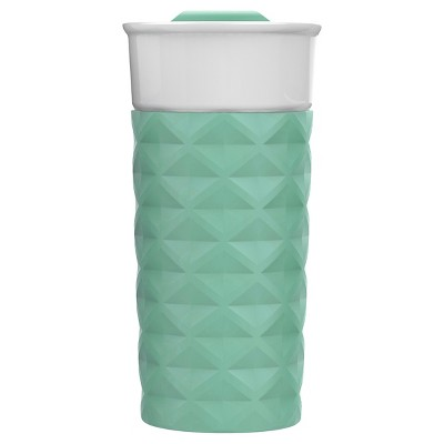 Ello Ogden 16oz Ceramic Travel Mug - Sunbleached Turquoise