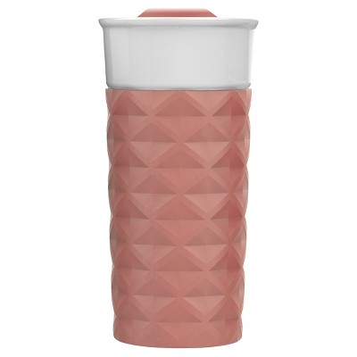 Ello Ogden 16oz Ceramic Travel Mug - Georgia Peach