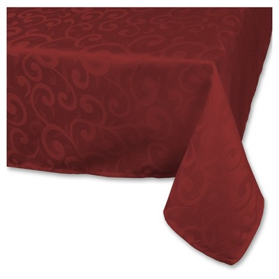 """Polyester Damask Tablecloth - 52 X 70"""" - Wine"""