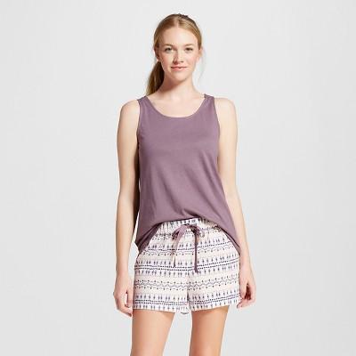 Women's Pajama Tank Shorts Set Pink Floral XL - Gilligan & O'Malley™