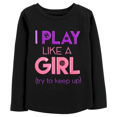 Just One You™Made by Carter's® Toddler Girls' I Play Like a Girl Tee - Black 2T