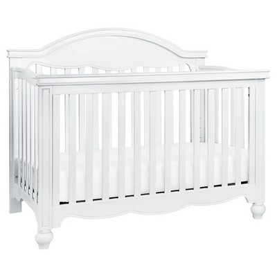 Million Dollar Baby Classic Etienne 4-in-1 Convertible Crib with Toddler Bed Conversion Kit - White